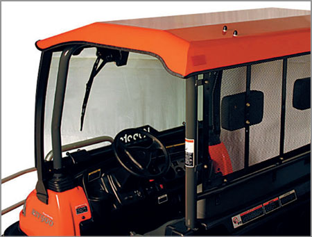 rtv accessories kubota cabs roofs kubota. Black Bedroom Furniture Sets. Home Design Ideas