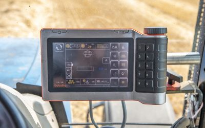 In-cab terminal affords easy adjustment of dale size and density.